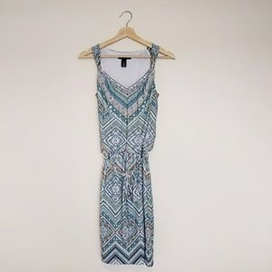 BNWOT WHBM Tie Waist Dress w Silver Accents